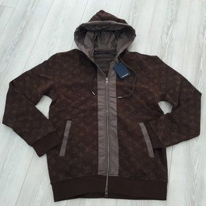 Louis Vuitton men fullzip sweat brown